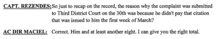 New Bedford ACO Maciel on record stating he has taken multiple people to court over these citations that have NEVER been sent out legally in 21 years.