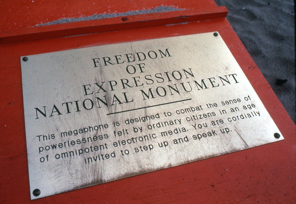 Freedom of Expression National Monument, 1984