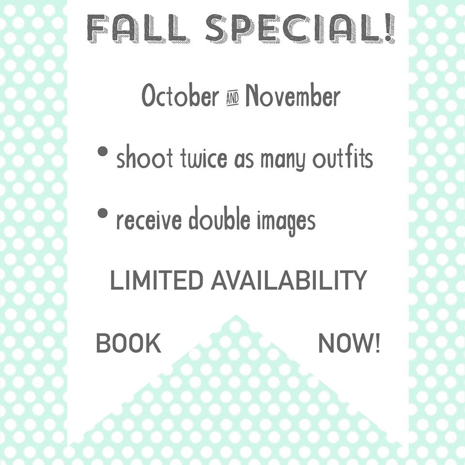 Fall Photo Shoot Special - Click the button below for more info