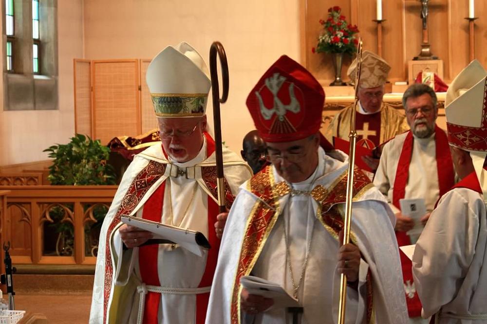 Left to Right: Bishop Richard Best. Bishop Douglas Marlow
