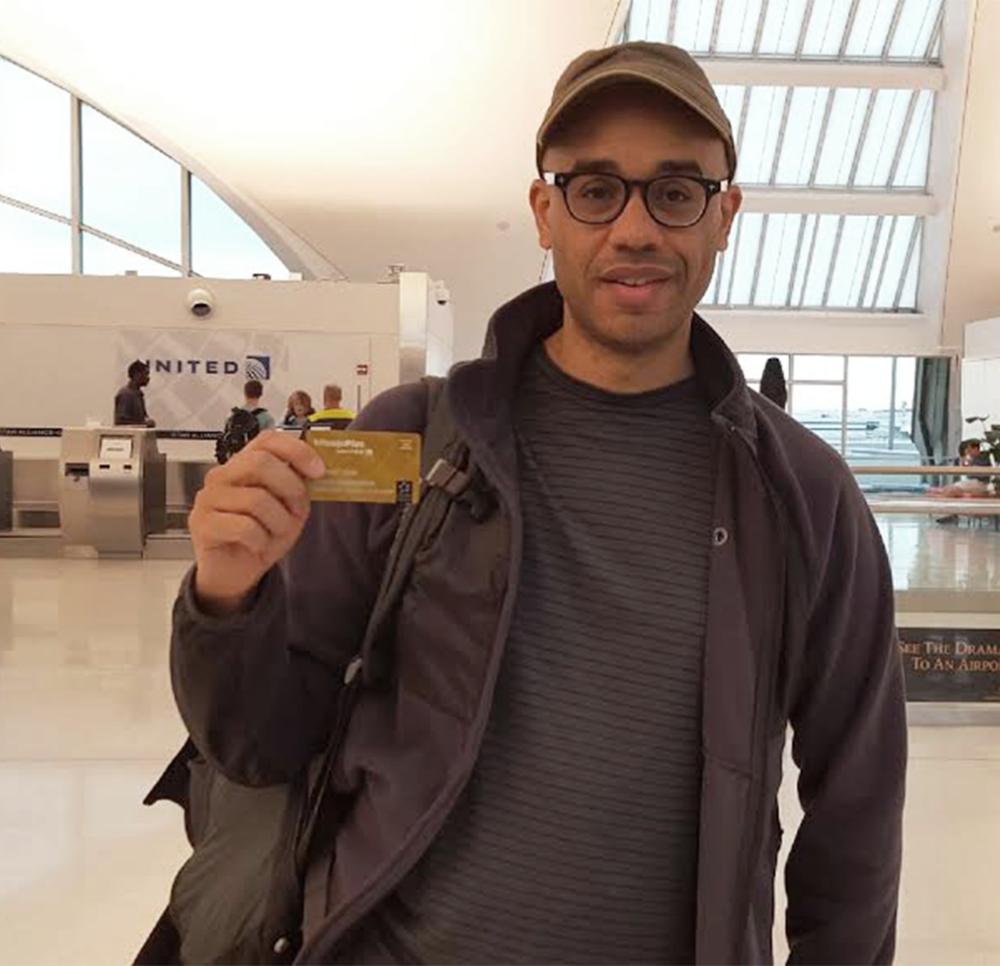 Sam Charrington, United MileagePlus member earning rewards as he travels abroad.