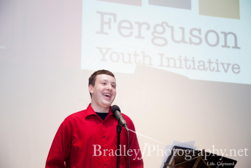 Brandon Pappert Speaking at the 1st Annual Ferguson Youth Initiative Banquet