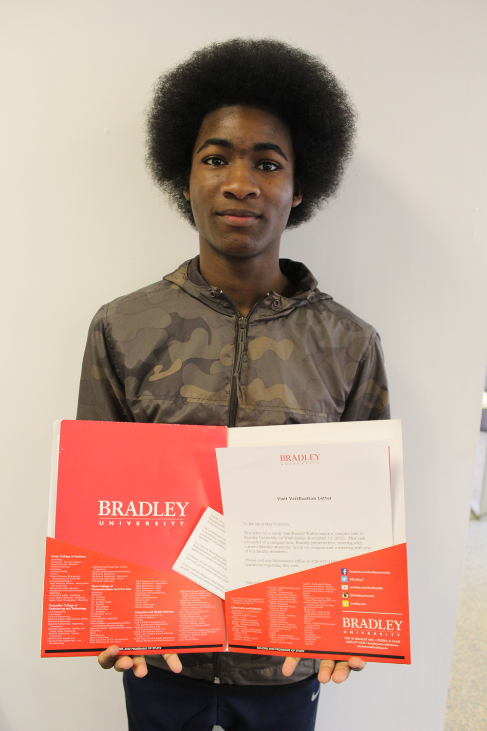 When I recieved my Bradley Acceptance letter (pre - haircut lol)