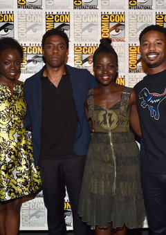 (From Left to Right) Danai Gurira,Chadwick Boseman,Lupita Nyong'o,Michael B Jordan
