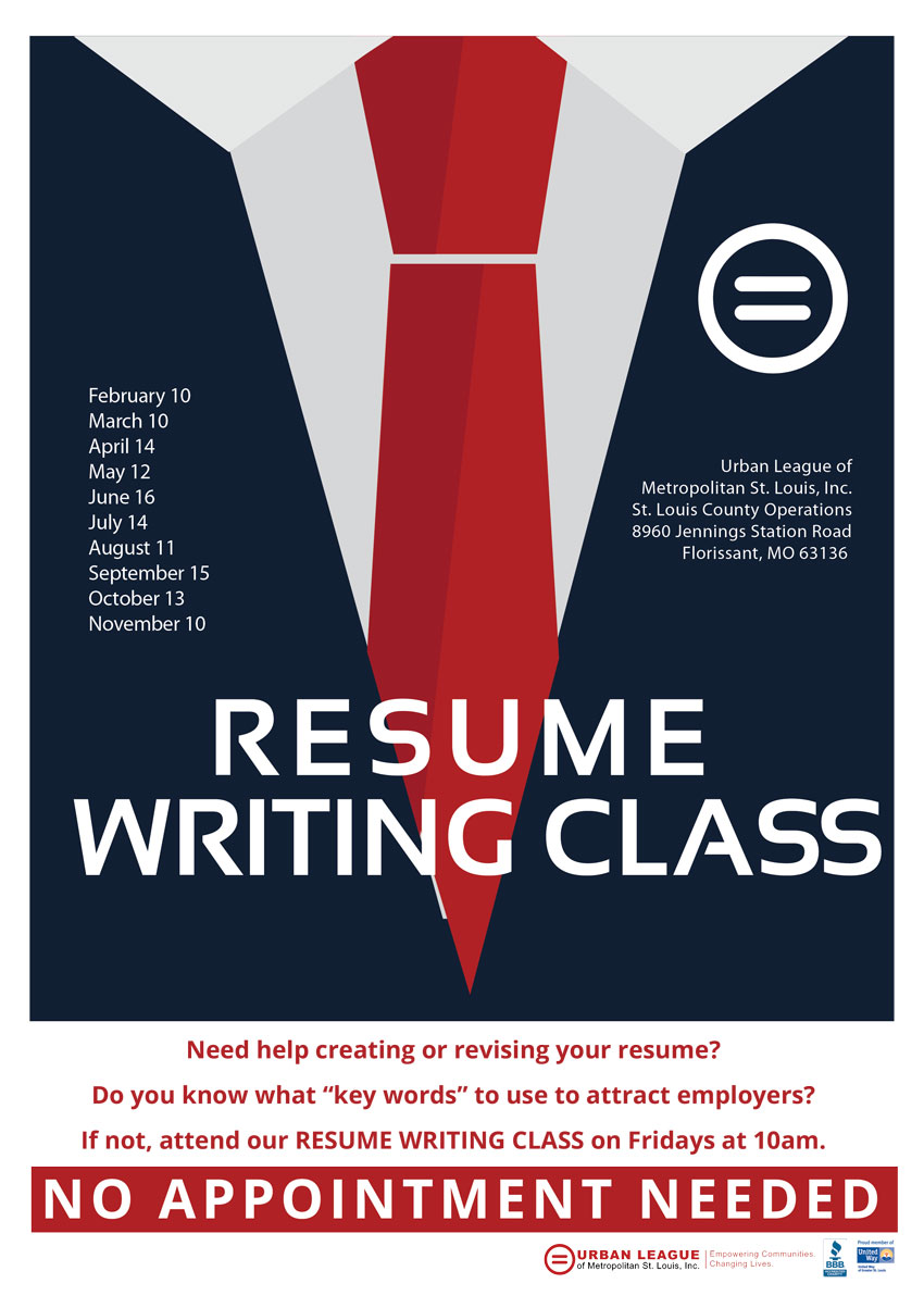 Wonderful For Additional Help, Consider Attending One Of Urban Leagueu0027s Monthly Resume  Writing Classes. These Classes Are Free Of Charge On The Second Friday Of  Every ... For Resume Writing Classes