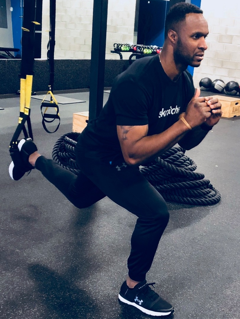 Suspended Lunge/Knee up