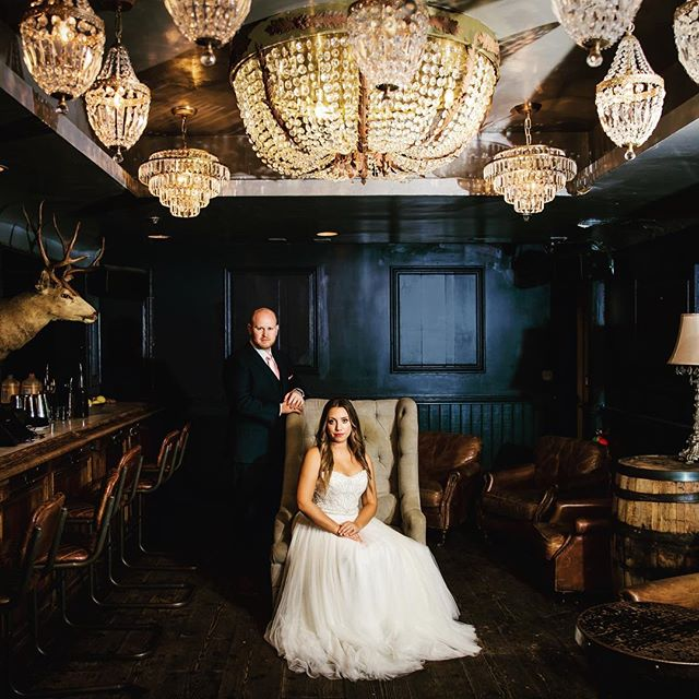 You know we have a thing for chandeliers (hint: it's our logo). Venue: @thevictoriansm  photo credit: @zookphoto  #weddingchandelier #basementtavern #thevictorian #santamonicawedding #weddingbrochure