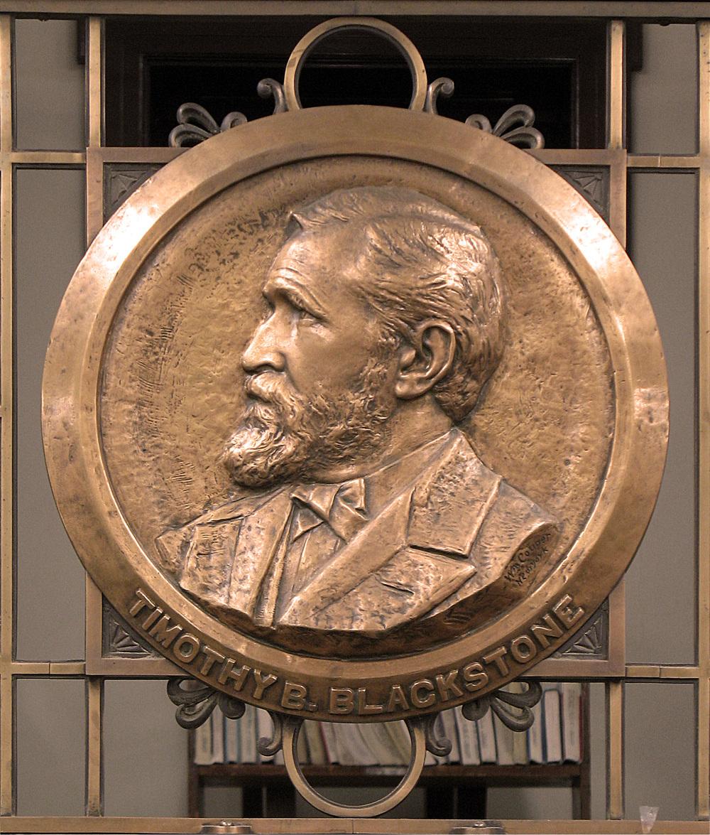 Timothy Blackstone Plaque at Blackstone Library Chicago