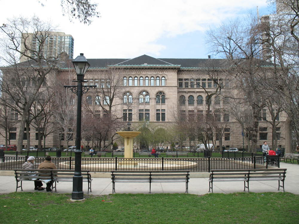 Newberry Library at Washington Square Park, Chicago