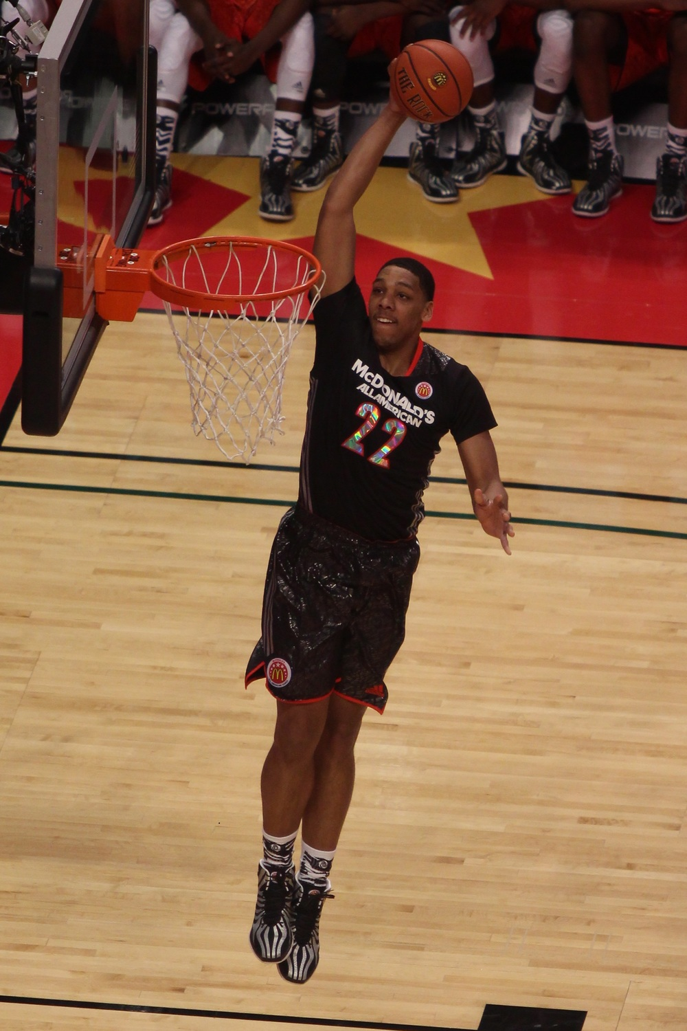 Jahlil Okafor dunking in the 2014 McDonald's All-American Game