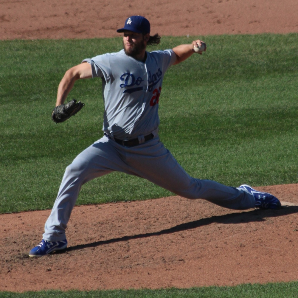 Clayton Kershaw during his 20th victory in 2014