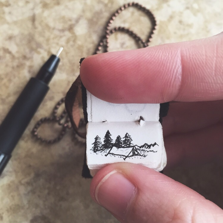 Tiny Camping Illustration || The Tiny Pages Project || Badon Hill Blog