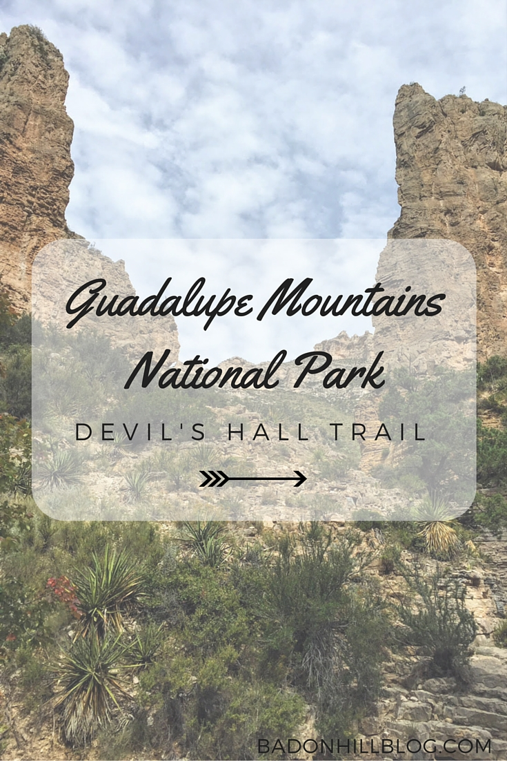 Guadalupe Mountains National Park: Devil's Hall Trail - the Badon Hill Blog