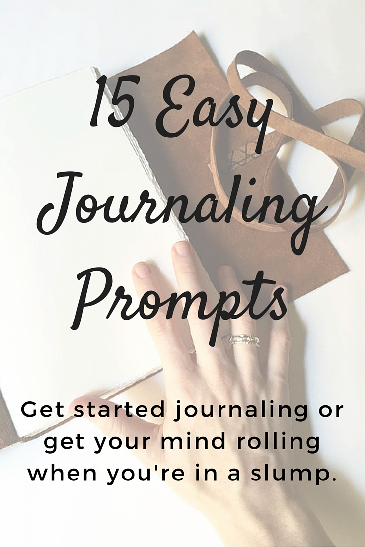 Journaling Promts from the Badon Hill Blog
