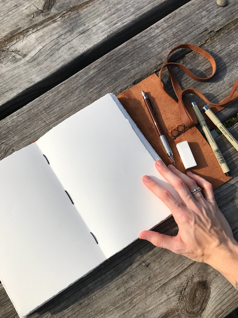 Handmade Leather Journal by Dear Summit Supply Co.