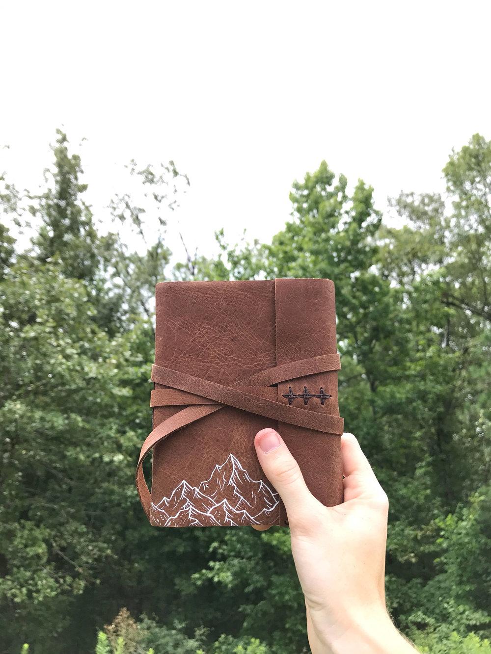 Handmade mountain journal by Dear Summit Supply Co.