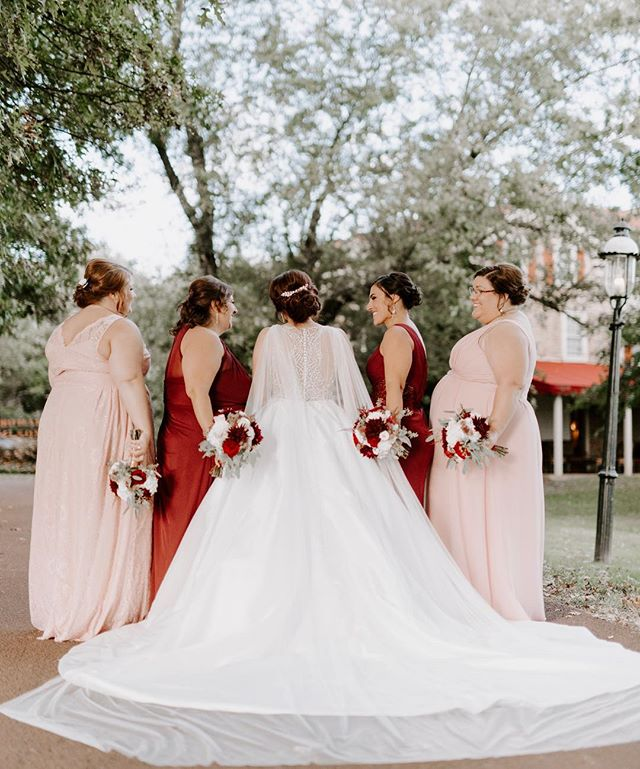 These bridesmaids were absolutely stunning in colors that made my eyeballs and camera swoon! And Jackie, your dress?! Drop dead GORGEOUS! ♥️ -  #belovedstories #junebugweddings #greenweddingshoes #marthaweddings #scarspantisaysido #josephamblerinn #autumnweddingseason #weddingphotography #lookslikefilm #liveauthentic #bridesmaids #itsdarling #bridebookdress #forthewildlyinlove #bridebook #pennsylvaniaweddings