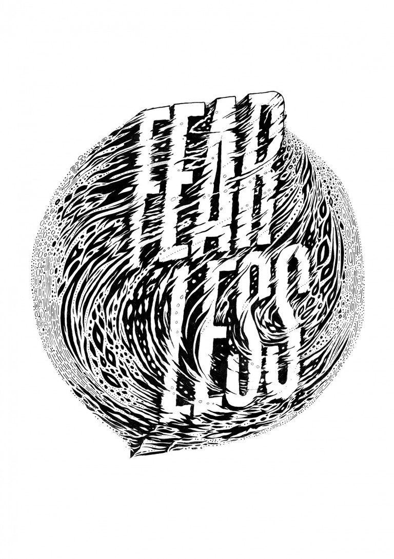 Art by Gemma O'Brien that reads Fear Less