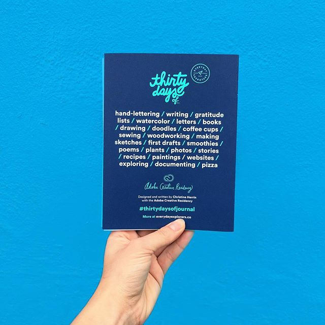 Thirty Days Of Journal • Designed by Christine Herrin • a journey of exercising creativity and exploring new ideas  #cyan #cmyo #thirtydaysofjournal (📷@laadykaate)