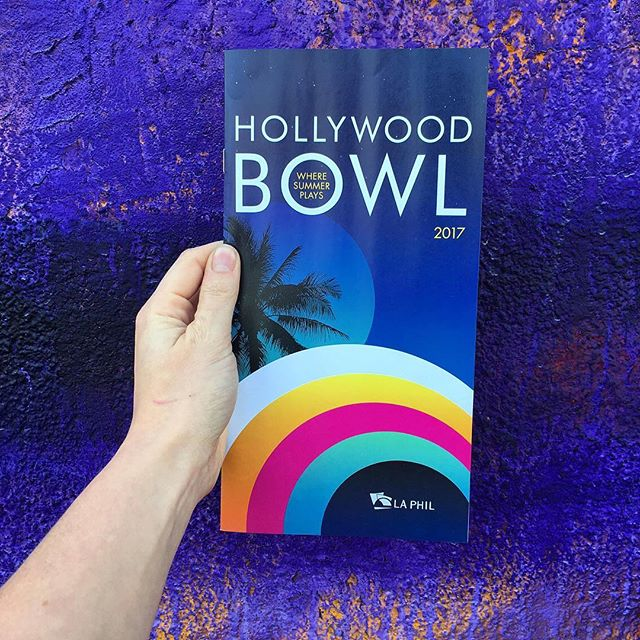 We adore the Hollywood Bowl's brochure design! 💜🎨#hollywoodbowl #laphil #art #design #community