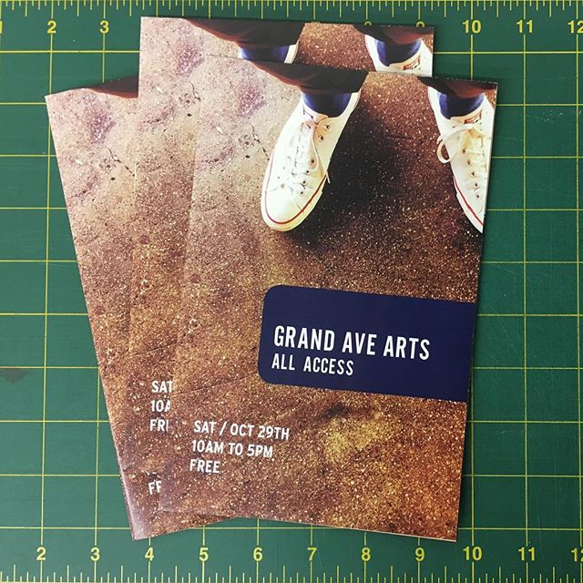Grand Ave Arts is tomorrow!  We're proud supporters of the event, and super excited that we got to help out by printing the schedules and maps. See you there! 😎#grandavearts #GAA #losangeles #print #art #culture #community #DTLA