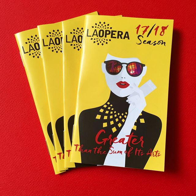 We love LA Opera's gorgeous cover design for their 17/18 season pocket calendar 😍 We couldn't decide what backdrop color we loved more... What's your favorite? Red or white? #laopera #red #white #design