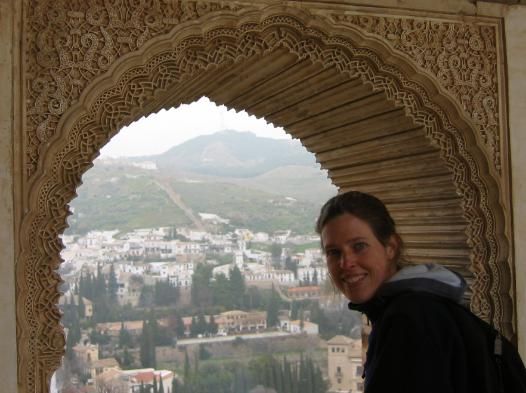 Erin atThe Alhambra in Granada, Spain