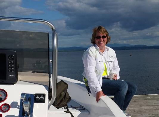 Cheryl on lake champlain
