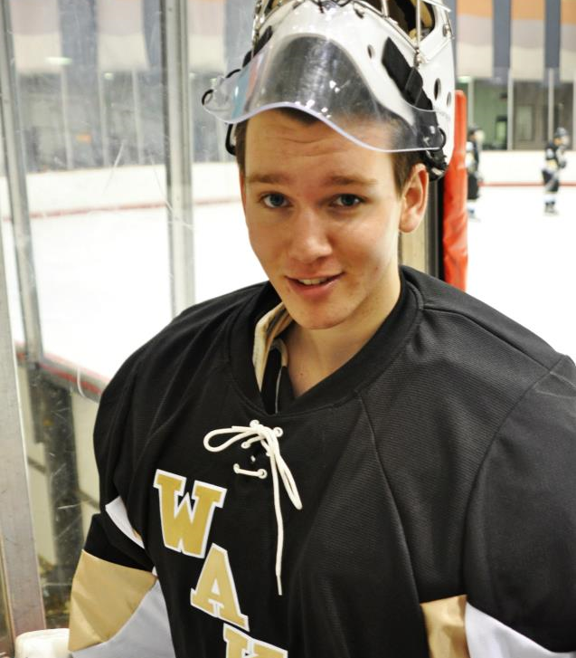 trevor playing ice hockey at wake forest