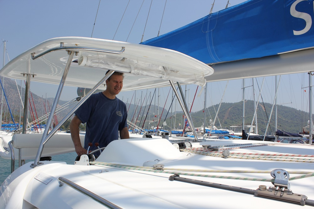 michael sailing in turkey