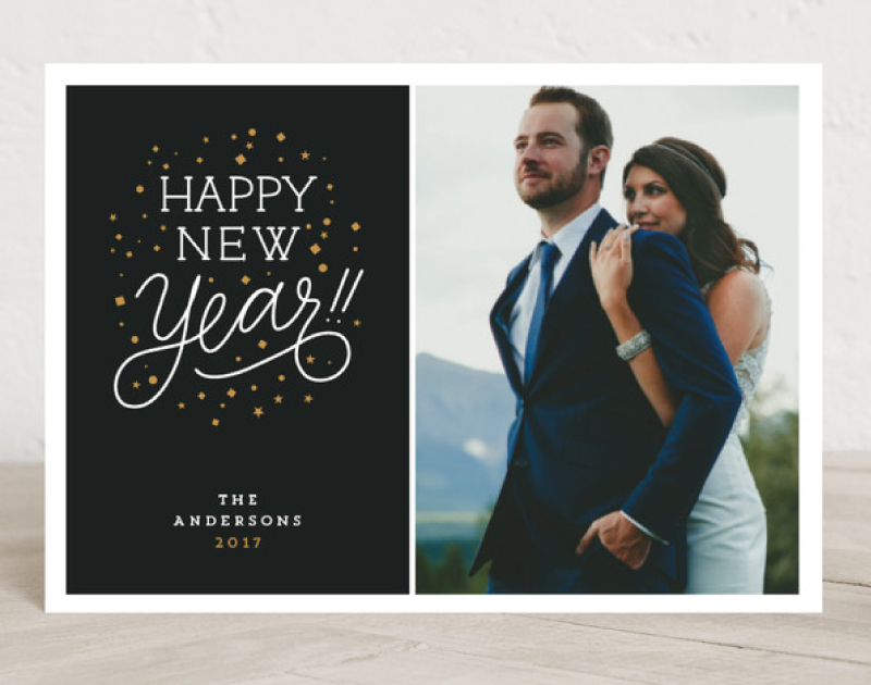 Confetti - New Years Holiday Card Design for Minted