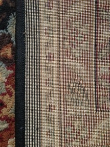 The Reverse side of a machine-made rug