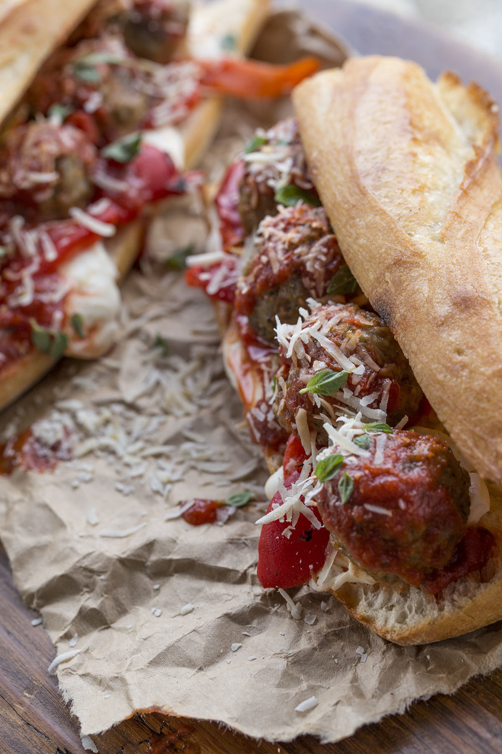 Midwest Food Photographers Meatball Sandwich