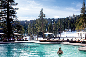 Maybe a swim in the heated pool looking up the slopes?