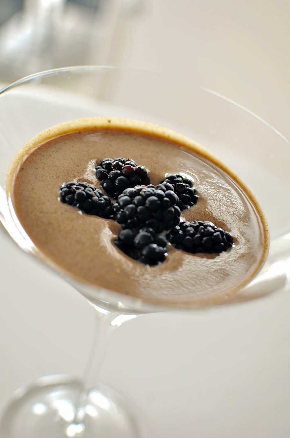 Chocolate Creme Anglaise with Berries