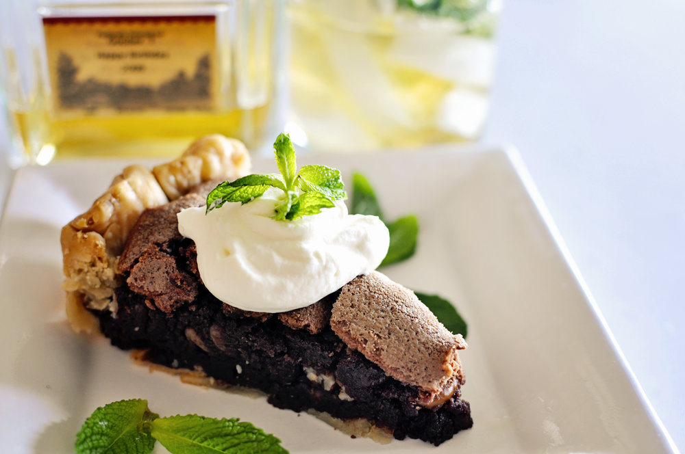 Check out my recipe for  Kentucky Derby Pie !  It is rich, chocolaty and delicious, a perfect compliment to a sweet and minty julep!  Give it a try and send me your thoughts!