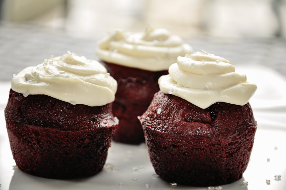 My Red Velvet Cupcakes... Click Here  for Recipe!