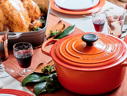 I love my Le Creuset! It makes holiday cooking easy, fun and colorful!