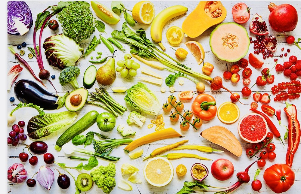 A rainbow of fresh...look at all of this beautiful healthy color!