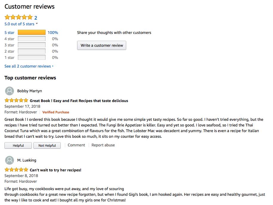 Amazon Reviews Gigi Wilson Fun&Simple Gourmet.png
