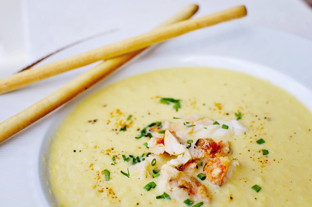Corn Chowder with Lobster