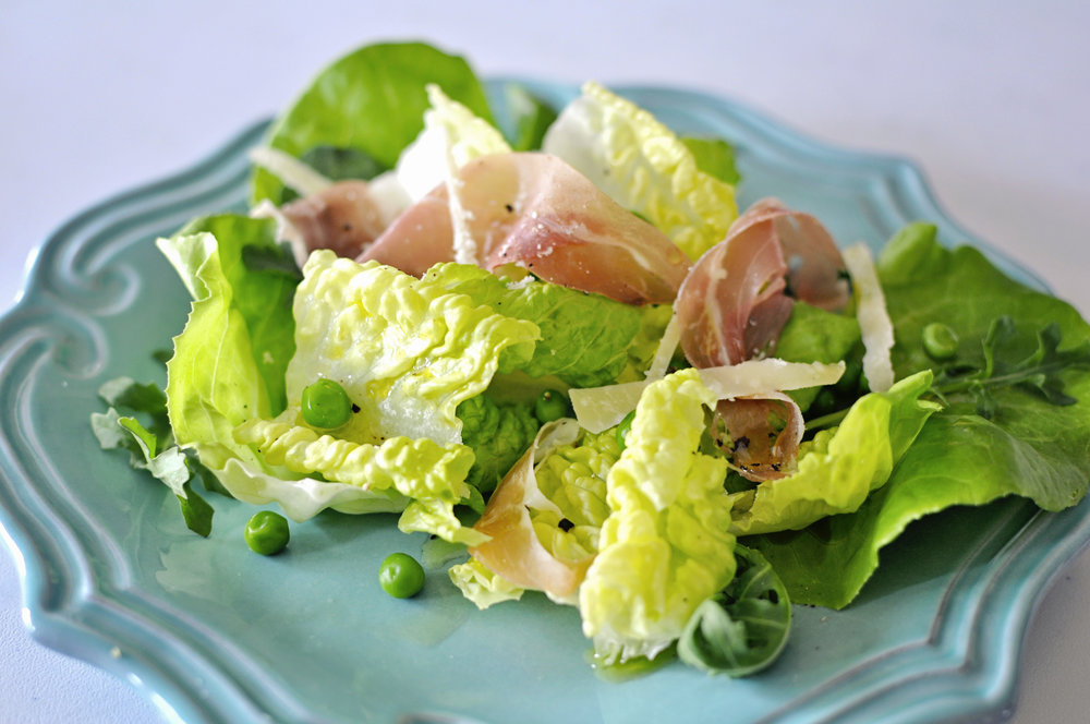 Sweet Pea Butter Lettuce Salad