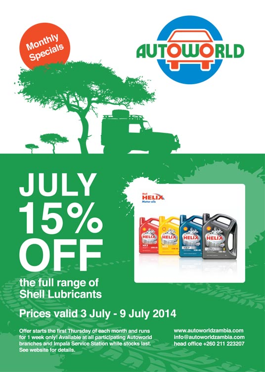 July Monthly Specials 2014