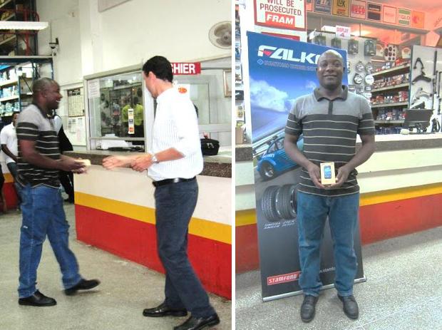 Autoworld staff competition winner Mr Arnold Chooka