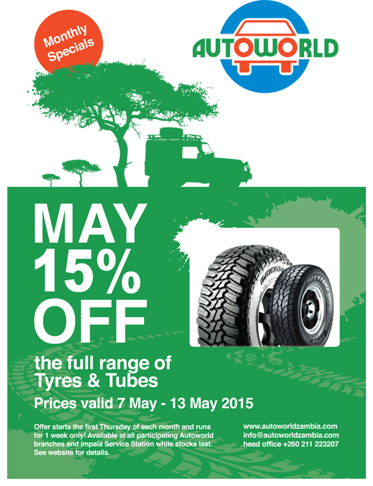 May 2015 Monthly Specials