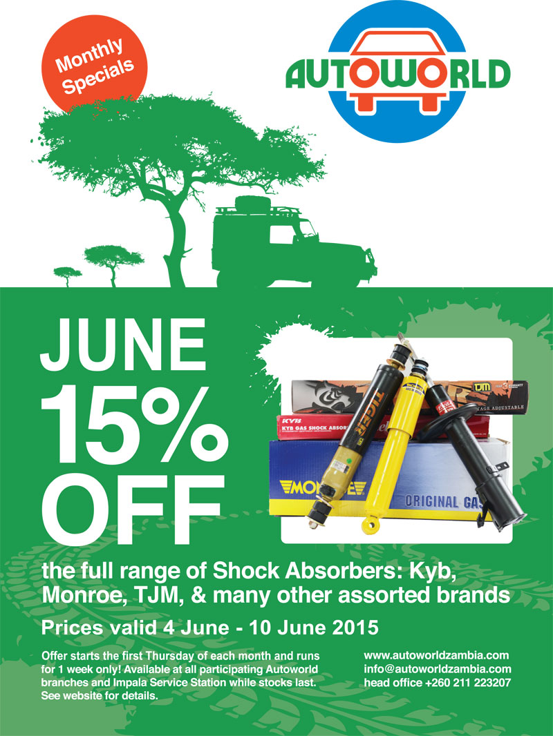 June 2015 monthly specials - shock absorbers