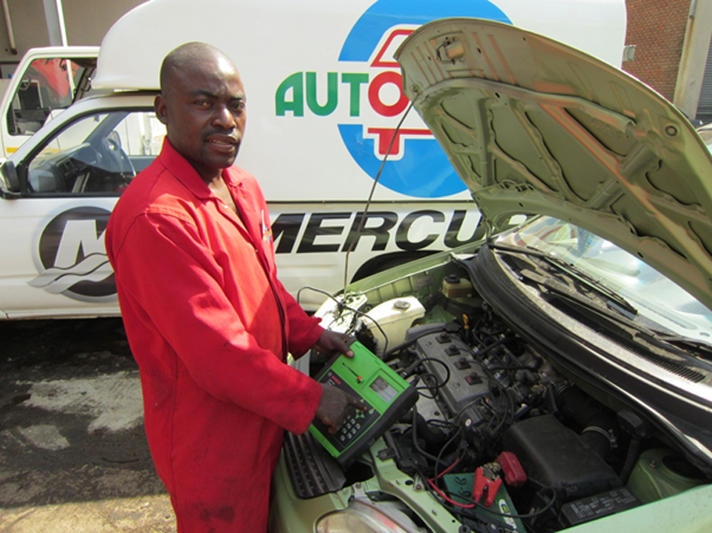 Autoworld mechanic and electrician Herman Mubbunu