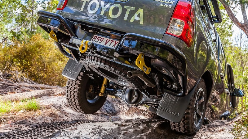 Heavy duty TJM shock absorbers in action