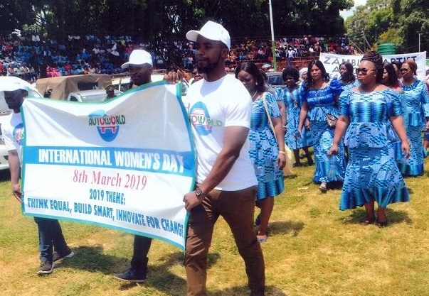 Team Autoworld join the march in honour of International Women's Day 2019