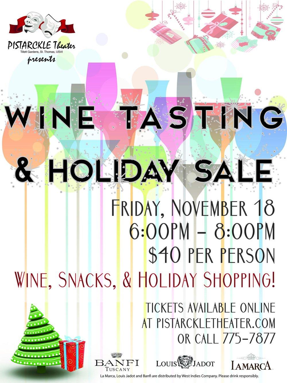Wine Tasting at Pistarckle Theater - Live Entertainment on St. Thomas, USVI